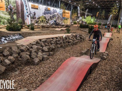 Mountainbike testparcours op de BikeMotion
